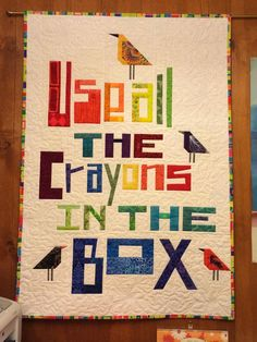 Use All The Crayons in the Box quilt