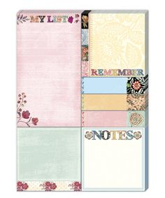 Look at this Calico Notes Sticky Pad Portfolio Set on #zulily today!