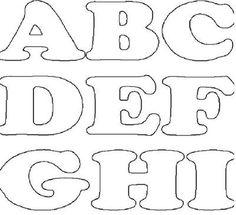 Resultado de imagen para molde em feltro tamanho original de letras