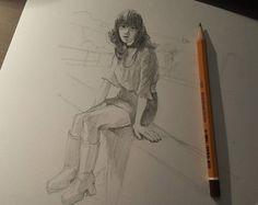 Автозаводишен гирл.  #drawing #illustration #portrait #sketch #pencil #sketchbook #art #artwork #painting #eskiz #портрет #рисунок #карандаш #набросок #эскиз