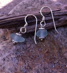 Genuine Pale Blue Sterling Silver Sea Glass by TulaTinkers on Etsy, $12.00