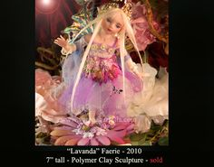 OOAK Fairy  One-of-a-kind polymer clay sculpture  by Verona Barrella