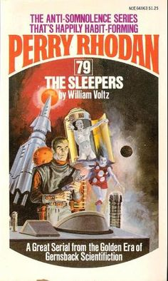 GRAY MORROW - art for The Sleepers (Perry Rhodan #79) by William Voltz - 1975 Ace Books