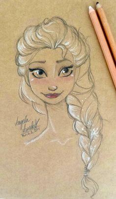Elsa Sketch 2 by angelaaasketches.deviantart.com on @deviantART