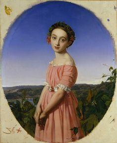 Henri Lehmann,Faustine Léo, 1842  (via: the metropolitan museum of arts)