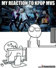 Reaction to Kpop MVs