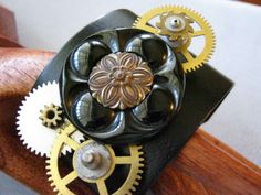 Vintage watch parts and button!