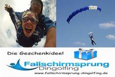 Nähe München Fallschirmspringen Tandemsprung erleben. Zwischen Landshut und Deggendorf liegt der Flugplatz Dingolfing. Edi Engl erwartet Dich zum Fallschirmsprung über Bayern. Gutschein online kaufen.