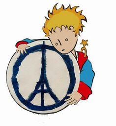 The Little Prince for Peace - Je Suis Paris Pray For Paris, Paris 13, Paris Attack, I Will Fight, The Little Prince, Tour Eiffel, Art World, Les Oeuvres, Paris France