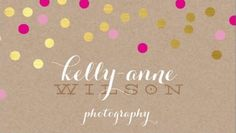 Fun Pink and Gold Circle Glam Confetti on Craft Paper Photography Business Cards http://www.zazzle.com/confetti_glamorous_cute_gold_foil_bold_pink_kraft_business_card-240803516020346493?rf=238835258815790439&tc=GBCPhotographer1Pin