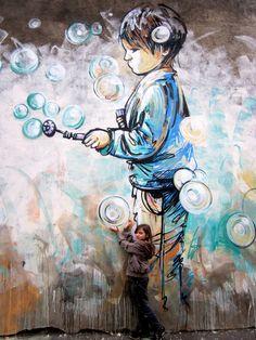 alice pasquini street art   Information Hub Of Besties.: Inspiring Street Art by Alice Pasquini