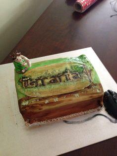 Sam's birthday cake. Terraria inspired.