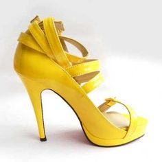 Christian Louboutin yellow leather sandals