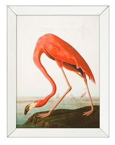 "Print Trett. Eichholtz, Art.: 108257. ото картина ""Розовый Фламинго"". Фабрика: Eichholtz. Материалы: Mirror Frame / Clear Glass; Размеры: 70 х Н. 90."