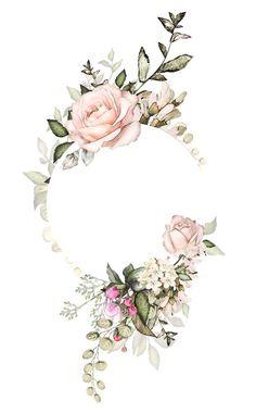New For Rose Gold Flower Border Transparent Background Watercolor Floral Border