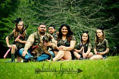 Family pictures camo dog hunting gun Haley Lewis Photography