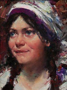 Jeffrey Watts. Charlotte, oil, 12 x 9.