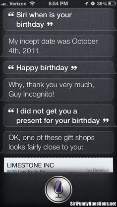 Funniest Siri Questions
