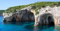 Blue caves, Keri Zakynthos island Greece.