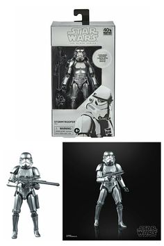 Star Wars Black Series Carbonized Stormtrooper Action Figure. Star Wars Lover Gifts Ideas For Men/Boys/Kids. Star Wars Gift Ideas. Star Wars Action Figures. #StarWarsLoverGifts #StarWarsGiftIdeas #StormTrooperGiftIdea #StarWarsActionFigures