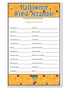 halloween word scramble tiny monsters