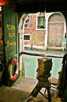 Amazing bookstores around the world- like this one in Venice Italy.