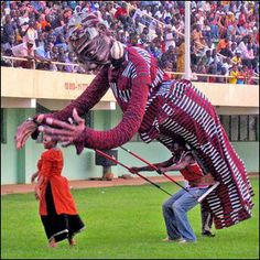 Fespaco giant puppet in Nigeria