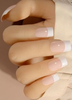 Apr 2020 - White French Tip Acrylic Long Press On Nail Tips 24 Count White Tip Acrylic Nails, Bright Summer Acrylic Nails, French Tip Acrylics, French Nails, Simple Elegant Nails, Long Press On Nails, Power Gel, White French Tip, Nail Art Designs