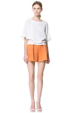 FRONT PLEAT SHORTS - Shorts - Woman   ZARA United Kingdom