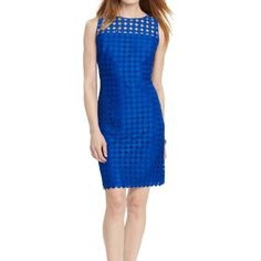 Ralph Lauren Cobalt Sheath Dress (Petite Sizing)
