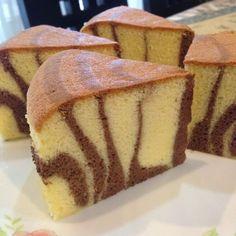 Cheese Sponge Cake Ingredients: 6 egg yolks butter sugar milk cream cheese Cake flour Corn flour 6 egg whites sugar tsp cream of tartar Utensil: round, bo… Marble Cake Recipes, Sponge Cake Recipes, Dessert Cake Recipes, Food Cakes, Cupcake Cakes, Nougat Cake, Genoise Cake, Baking Recipes, Cookie Recipes