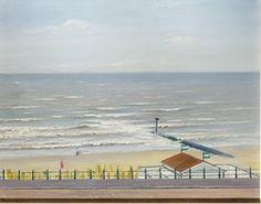 Willem Hussem, Boulevard, strand en zee van Scheveningen, 1936