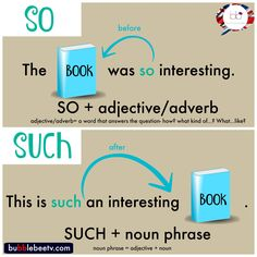 Learn English with BubbleBee TV English Grammar Tenses, English Adjectives, Nouns And Adjectives, Grammar And Vocabulary, English Vocabulary, English Language, Grammar Rules, Adverbs, Second Language