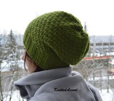 Knitted Beanie Hat Hand Knitted Hat Winter Hat by KnittedAccent