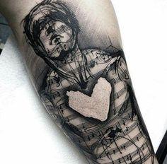 Music heart love tat...