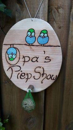 Men's Gift Grandpa's Piep Show - olympus. Bird Feeding Station, Dozen Roses, Grandpa Gifts, Yellow Roses, Love Flowers, Bird Feeders, Birthday Gifts, 90th Birthday, Birthday Quotes