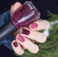 designed a stylish fall/winter mani using VII & Fifth Avenue. Love Nails, How To Do Nails, Fun Nails, Spring Nail Art, Spring Nails, Stylish Nails, Trendy Nails, Nails Polish, Super Nails