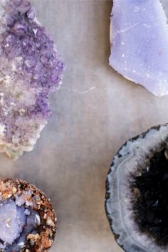 GEODE TRUFFLES AND AMETHYST C A N D Y BARS R E C I P E FOR THE AMETHYST: 4 CUPS OF SUGAR 2 CUPS OF WATER PURPLE GEL DYE Boil water, adding sugar slowly until it dissolves completely. Add purple gel dye until color is achieved. Let the sugar water cool slightly.