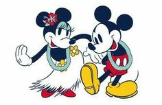 Mickey & Minnie on their Hawaiian Holiday