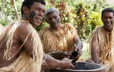 Traditional kava ceremony with the Tribal Chief in the village. I couldn't feel my tongue.