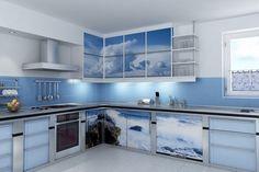Cobalt Blue Kitchen Decor Nonsensical Counter Colors Top Designs Home Interior 13 Elegant Kitchen Design, Kitchen Cabinet Design, Blue Kitchen Cabinets, Dream Kitchens Design, Blue Kitchen Designs, Blue Kitchen Walls, Kitchen Decor, Elegant Kitchens, Modern Kitchen Design