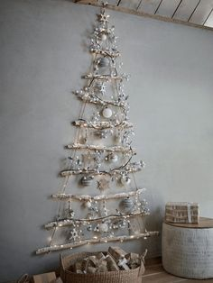 Easy DIY Christmas Decorations on a Budget Simple Tree Made from Twigs