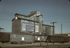 Flour Mill, Caldwell, Idaho by Russell Lee