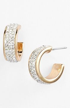 Nordstrom 'All that Glitters' Small Pavé Hoop Earrings | Nordstrom