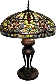 Emperor Tri-Leg Tiffany Style Table Lamp
