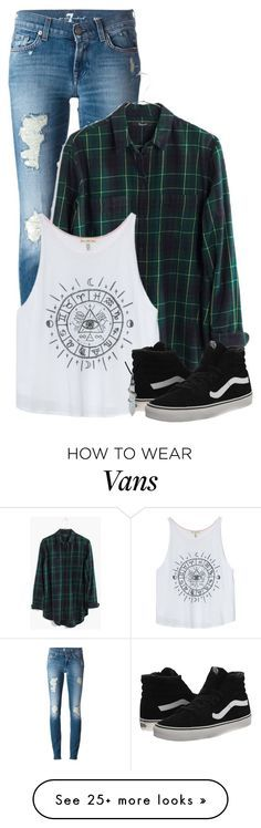 """Devin"" by music-is-life-and-feeling on Polyvore featuring 7 For All Mankind, Madewell, Vans and Bling Jewelry"