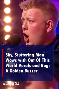 The seemingly shy Welshman seemed awestruck with the size of the audience before him as he stood before the judges for his audition for BGT. Singing Lessons, Singing Tips, Music Lessons, Britain's Got Talent, Talent Show, Alone, Live Music, Good Music, Music Songs