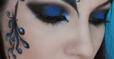 Make-up Artist Me!: Blue Secret- blue masquerade makeup tutorial--  costume halloween | See more about Masquerade Makeup, Masquerades and Makeup Tutorials.