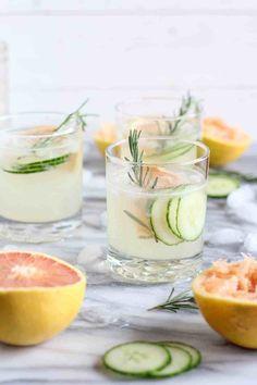 Grapefruit Cucumber Gin Cocktail - pumpkinandpeanutbutter