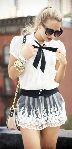 teen fashion. I really like this style, but the skirt needs to be a bit longer.